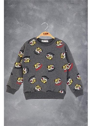 Toontoy Kids Toontoy Erkek Çocuk Tıger Baskılı Sweatshirt Renkli